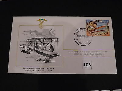 FDC,First,Day,of,Issue,LIBERIA,Flugzeug,Aircraft(103)