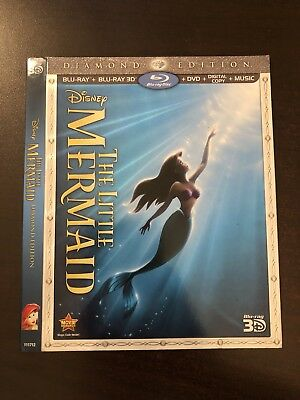 Disney The Little Mermaid 3D Blu Ray Slipcover Only