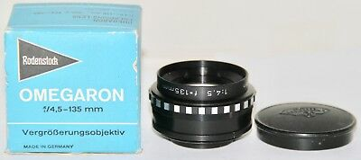 Rodenstock Omegaron Enlarging Lens 135mm f4.5 For 4x5 In Box Made In Germany