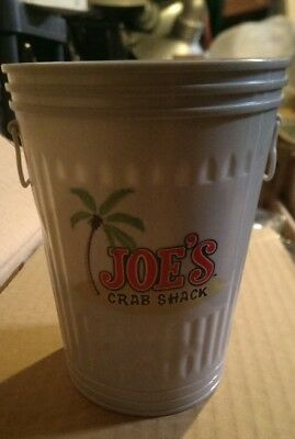 Joe's Crab Shack Garbage Can Drink Mug Lot Of 6 Cups With Lids