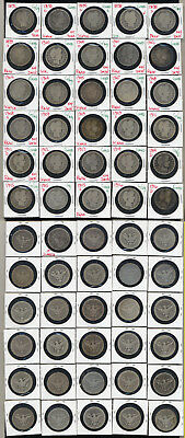 Lot Of 30 Barber Quarters- Includes Many Key Dates- No Reserve