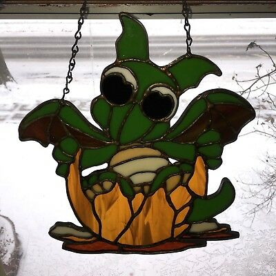 Stained Glass Window Hanging Dragon Sun Catcher
