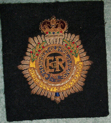 """WWII British Patch Heavy Bouillon weave-STUNNING"""" with letters """"ER"""" LQQK N' Bid"""