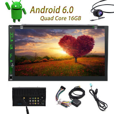 """7"""" Android 6.0 Car Radio Stereo DVD Quad Core 3G WIFI Double 2DIN Player GPS US"""