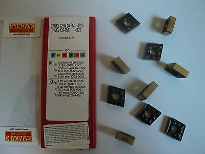 10 pcs. sandvik cnmg 432 pm grade 4325 coated inserts