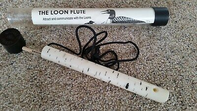 "Loon Flute to tute 4 loon calls 11"" long w/ instructions"