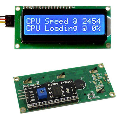 IIC I2C TWI SPI Serial Interface 1602 16X2 Character LCD Anzeige Blue AIP