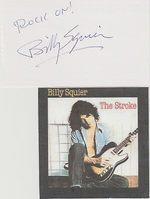 Billy Squier signed card!  80s Rocker!
