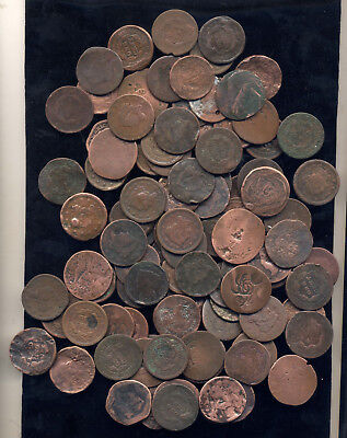 Lot Of 100 Mixed Problem Large Cents- Scarce- No Reserve