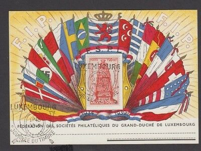 COV 006 Luxembourg - FSPL 1945 Post WWII Journee du Timbre Card great value $$