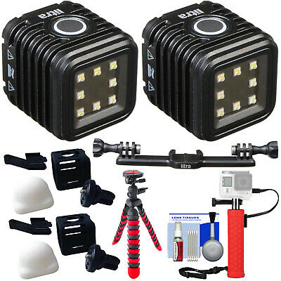 Litra LitraTorch Waterproof LED Video Camera Camcorder Light x2 with Bracket Kit