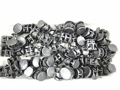 60 x 5mm Plastic Toggle Stoppers 2 Holes Cord Locks End Black