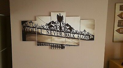 liverpool fc, you'll  never  walk alone canvas art