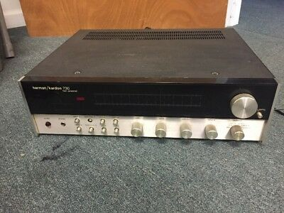 Harmon Kardon 730 Receiver Hk Twin Powered Receiver, Works With Issues
