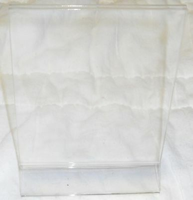 """sign holder, stand, picture holder 4"""" wide by 6"""" clear, acrylic, 5001937"""