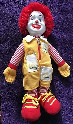 "Vintage Ronald McDonald's 1980's Plush 16"" Soft Stuffed Doll Figure Toy"