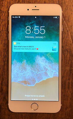 Apple iPhone 6 plus, 64 GBytes, Model A1522, Gold, Two Cases included. Unlocked.
