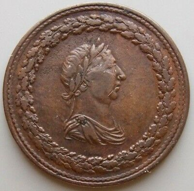 """1812 LC-46A3 Lower Canada Canadian  Colonial 1/2 Penny """"Thomas Halliday"""" Token"""