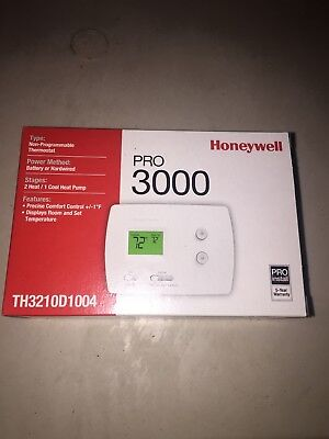 HONEYWELL Low V T-Stat,Stages Heat 2,Stages Cool 1, TH3210D1004 Free Shipping