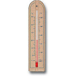 Brannan Short Wood Wall Thermometer