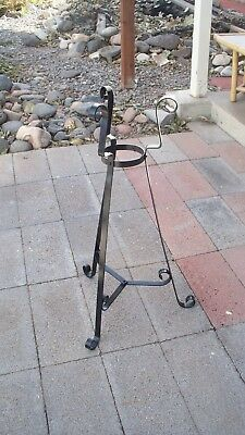 Vintage Large Wrought Iron Plant Stand Metal 30""
