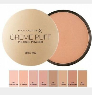 Max Factor Creme Puff Pressed Powder - Flawless Finish Makeup Cosmetics FREE P&P
