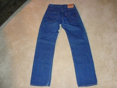 Vintage Levi's 70's 501 Selvedge Jeans 29X32 RED LINE USA Button  #524 ***