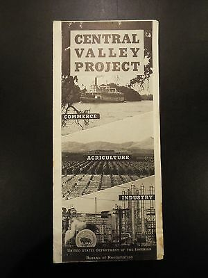 Central Valley Project US Dept. of Interior Bureau of Reclamation Brochure