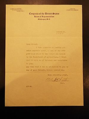 Congress of the United States House of Representatives Letterhead Letter 1929