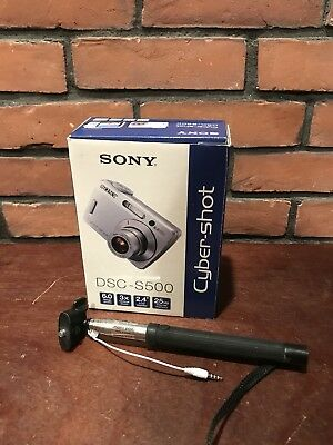 Sony Cyber-shot DSC-S500 6.0MP Digital Camera. With Monopod And Carry Case