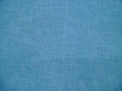 Vintage Full FEED SACK Solid Color Denim Blue Nice
