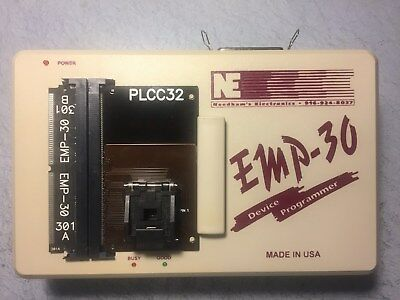 Needhams EMP-30 Universal Device Programmer PLCC32 socket 301-A/B with cable PSU