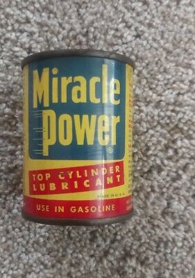 OLD Miracle Power Top Cylinder Lubricant Metal Can Bank AP co Toledo OH Gas Oil