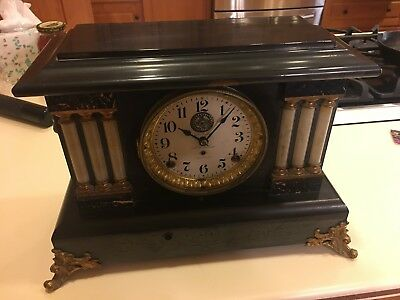 Antique Seth Thomas 8 Day Mantle Clock ~