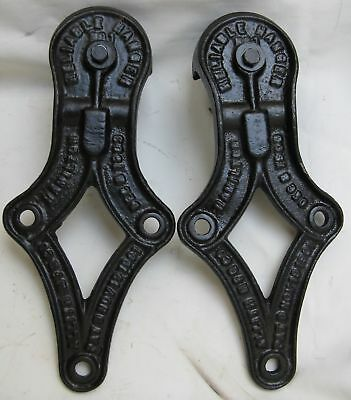 OLD FARM BARN SHED DOOR ROLLER HANGER PAIR ALLITH No.1 Cast Iron 1903 Patent