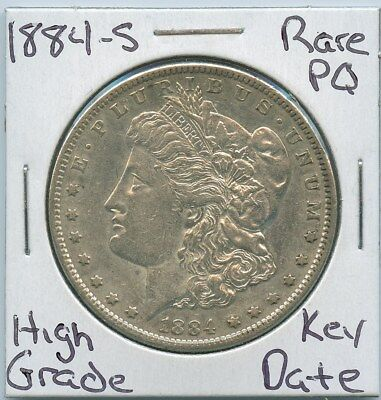 1884-S Morgan Dollar Rare Key Date US Mint Silver Coin PQ High Grade
