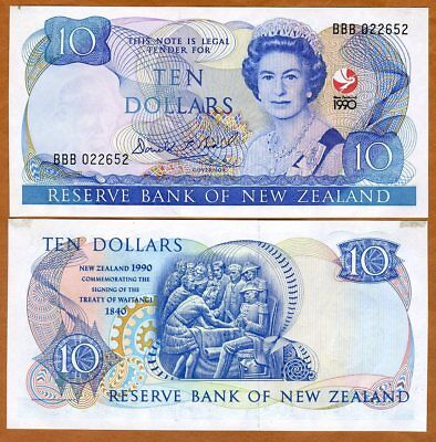 New Zealand, $10 1990, P-176 aUNC > Commemorative