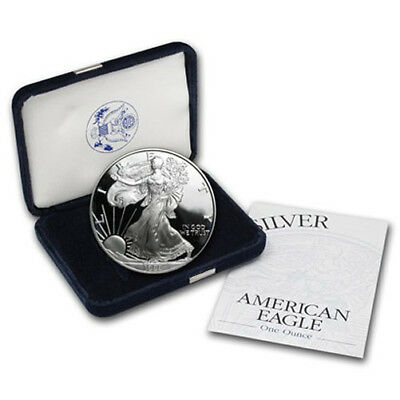 1999-P Proof Silver American Eagle All Original With Box And Coa Gem Cameo Proof