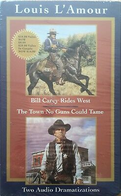 Louis L'Amour Two Audio-Billy Carey Rides West/The Town No Guns Could Tame NEW!