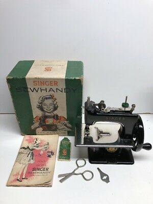 Vintage Singer Sewhandy Model 20. With Instructions, Tool, Needles, And Box