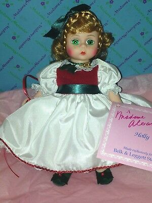 """Madame Alexander 8"""" Doll BELK'S HOLLY  #84-S - Christmas Doll"""