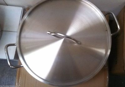 15 Quart BRAZIER BRAZING PAN with LID 18/8 STAINLESS INDUCTION READY COOKWARE
