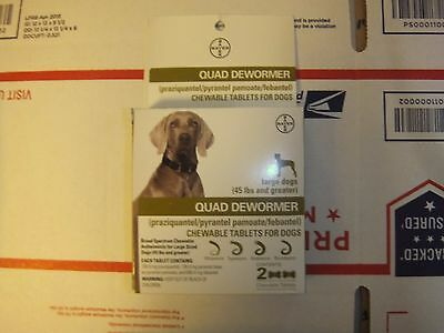 Bayer Expert Care Quad Dewormer Puppies & Large Dogs  over 45 lbs ( 2 tablets )