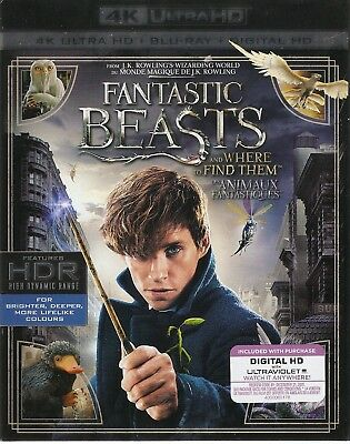 FANTASTIC BEASTS AND WHERE TO FIND THEM 4K ULTRA HD & BLURAY SET-Harry Potter