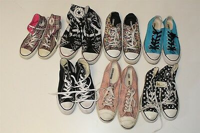Converse Lot Wholesale Used Shoes Rehab Resale Multiple Sizes Collection c-+