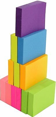 Post-It Neon Color Sticky Notes Pop Up Memo Reminder 12 Pads 100 Sheets 1-1/2X2