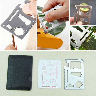 Multi Outdoor Tools 11 in 1 Hunting Survival Camping Credit Card Tool