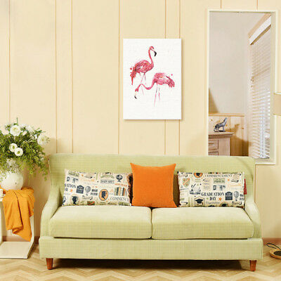 Unframed Modern Art Canvas Oil Painting Nordic Style Print Picture - Flamingo