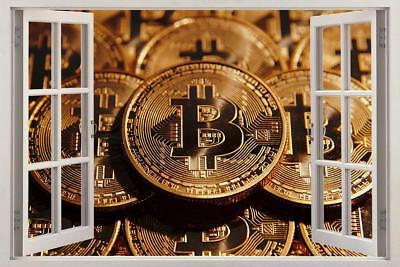Bitcoin Cryptocurrency 3D Window Decal Wall Sticker Home Decor Art Mural J1022
