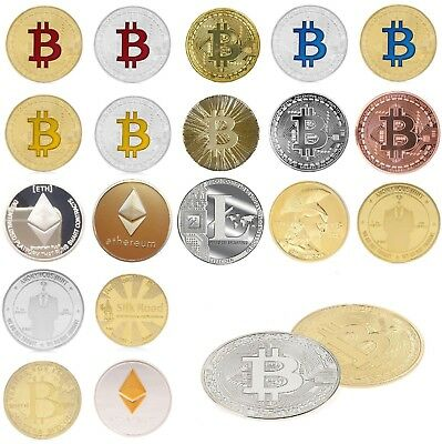Gold Silver Plated Bitcoin Ethereum And Litecoin Coin Casascius Souvenir Bitcoin